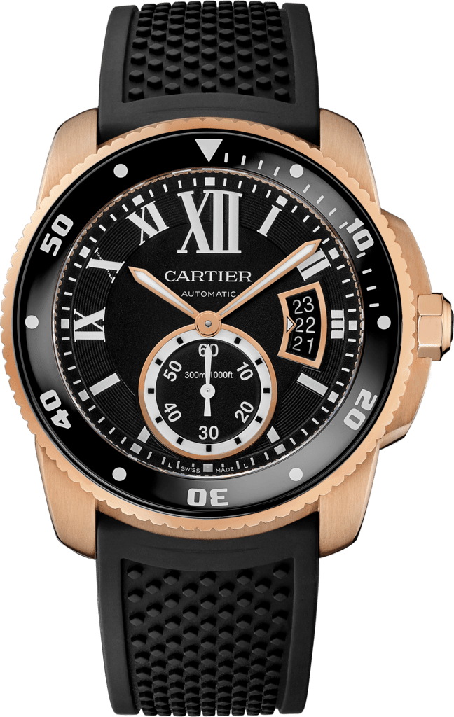 Calibre de Cartier Diver watch42 mm, pink gold