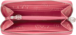 Happy Birthday Small Leather Goods, zipped international wallet Pink calfskin, palladium finish