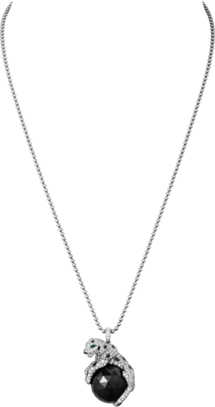 Panthère de Cartier necklace White gold, emeralds, onyx