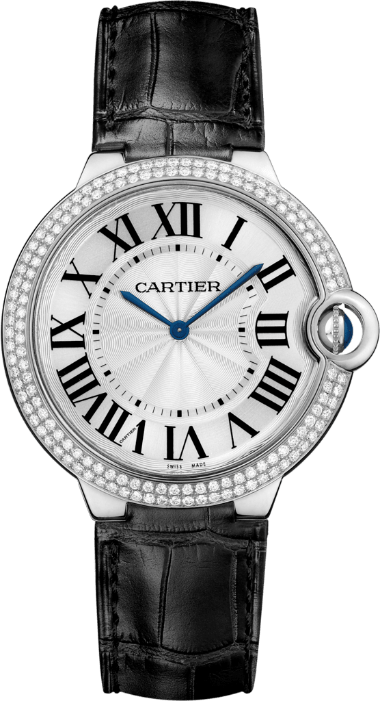 Ballon Bleu de Cartier watch40 mm, rhodiumized 18K white gold, rhodiumized 18K gold, diamond