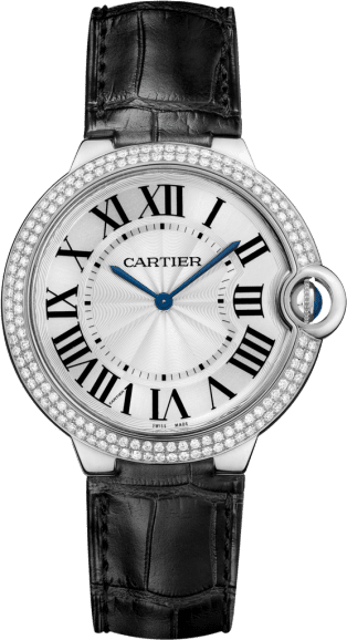 Ballon Bleu de Cartier watch 40 mm, rhodiumized 18K white gold, rhodiumized 18K gold, diamond