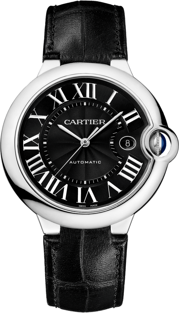 Ballon Bleu de Cartier watch42 mm, steel, leather
