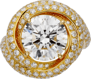 Trinity Ruban Solitaire Yellow gold, diamonds