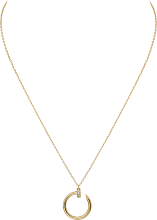 Juste un Clou necklace Yellow gold, diamonds