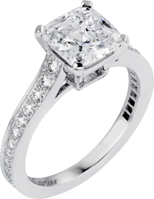 1895 solitaire ring Platinum, diamonds