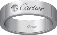 C de Cartier wedding band Platinum, diamond