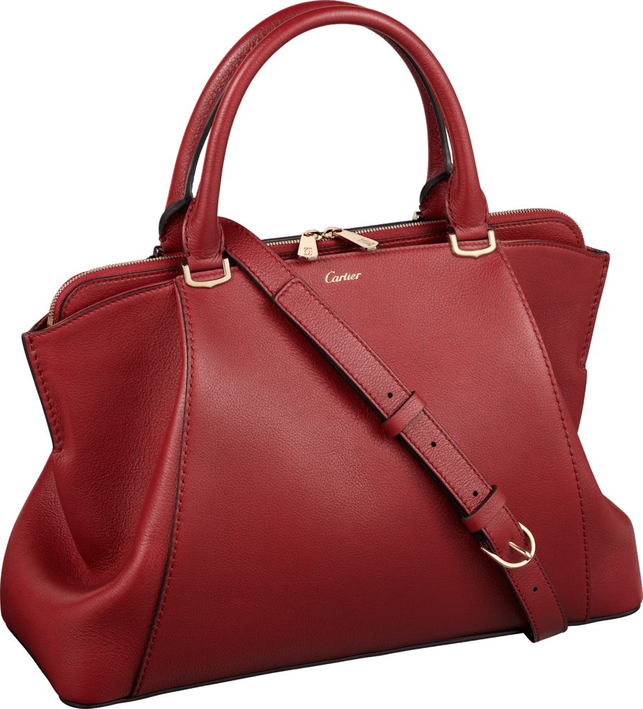 C de Cartier bag, small modelRed spinel taurillon leather, golden finish