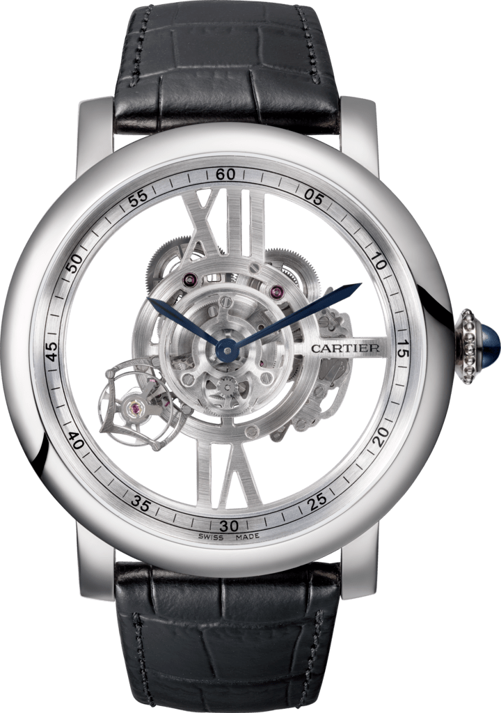 Rotonde de Cartier Astrotourbillon Skeleton watch47 mm, manual, 18K white gold