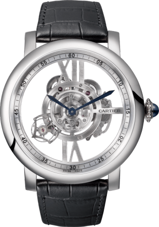 Rotonde de Cartier Astrotourbillon Skeleton watch 47 mm, manual, 18K white gold