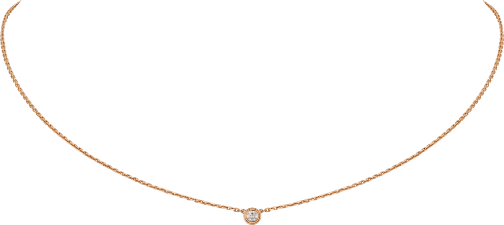 Diamants Légers necklace XSPink gold, diamond