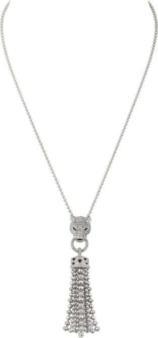 Panthère de Cartier necklace White gold, emeralds, diamonds, onyx