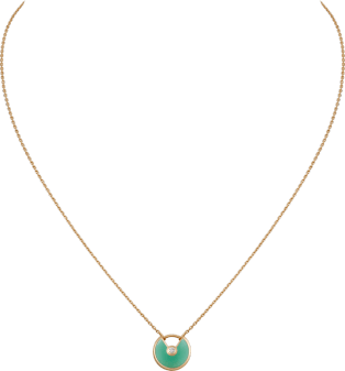 Amulette de Cartier necklace, XS model Yellow gold, chrysoprase, diamond
