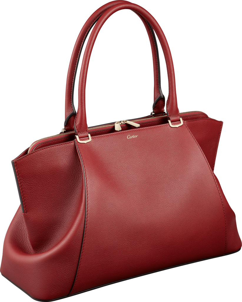 C de Cartier bag, medium modelRed spinel taurillon leather, golden finish