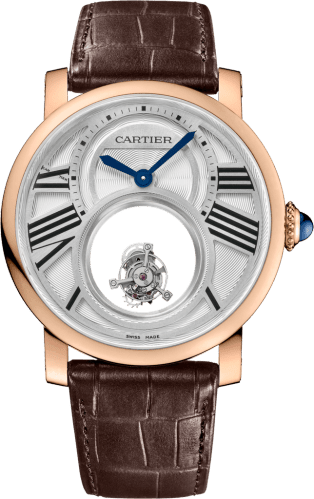 Rotonde de Cartier Mysterious Double Tourbillon watch 45 mm, 18K pink gold