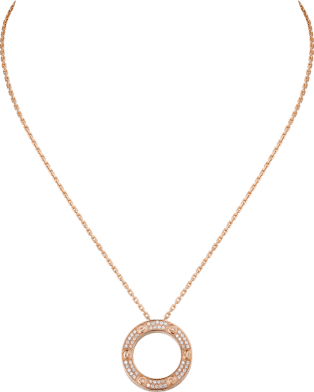 <span class='lovefont'>A </span> necklace Pink gold, diamonds