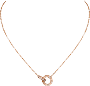 <span class='lovefont'>A </span> necklace Rose gold, diamonds