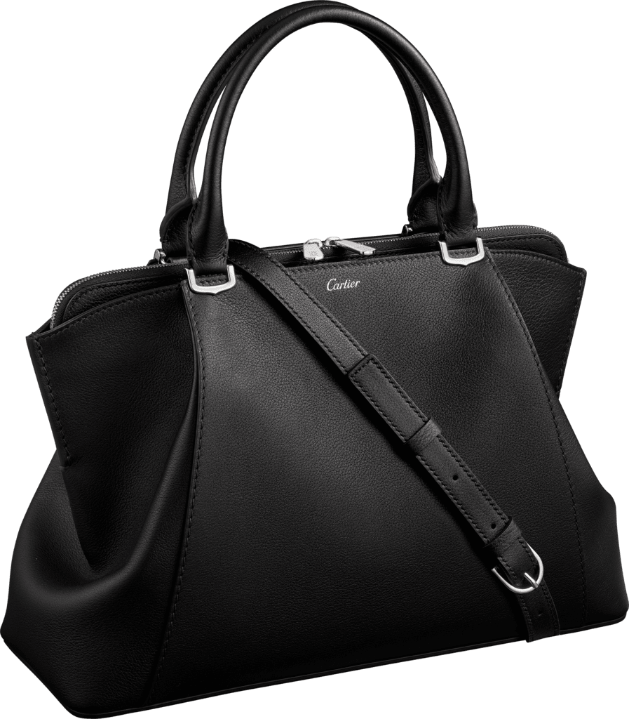C de Cartier bag, small modelOnyx taurillon leather, palladium finish