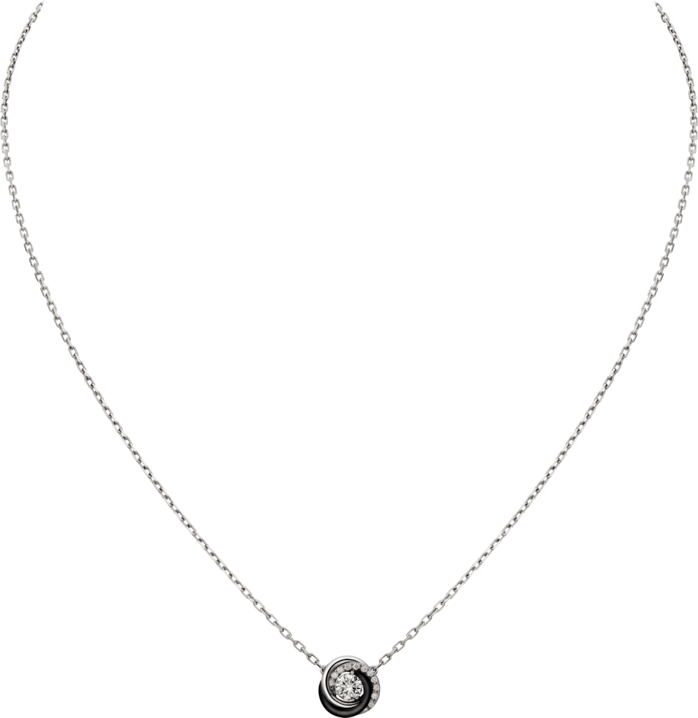 Trinity necklaceWhite gold, diamonds, ceramic