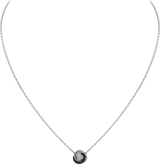 Trinity necklace White gold, diamonds, ceramic