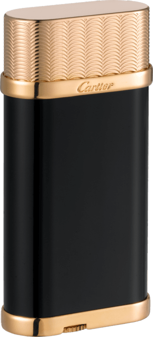 Oval guilloché décor lighter Black composite