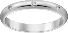 1895 wedding band Platinum, diamonds