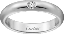 1895 wedding band Platinum, diamond