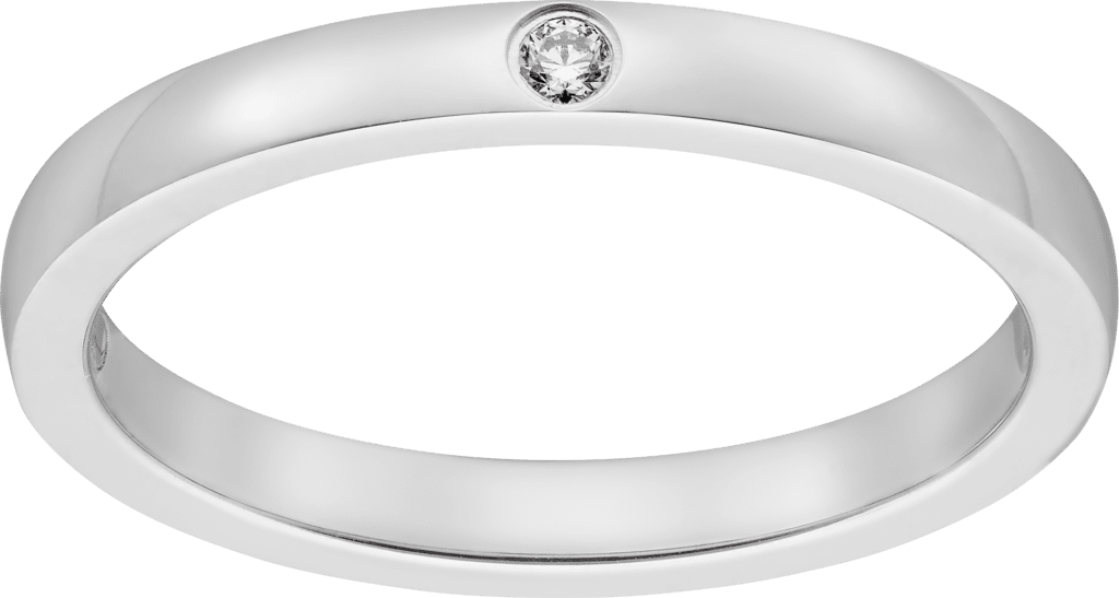 Ballerine wedding bandPlatinum, diamond