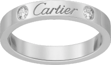 C de Cartier wedding band Platinum, diamonds