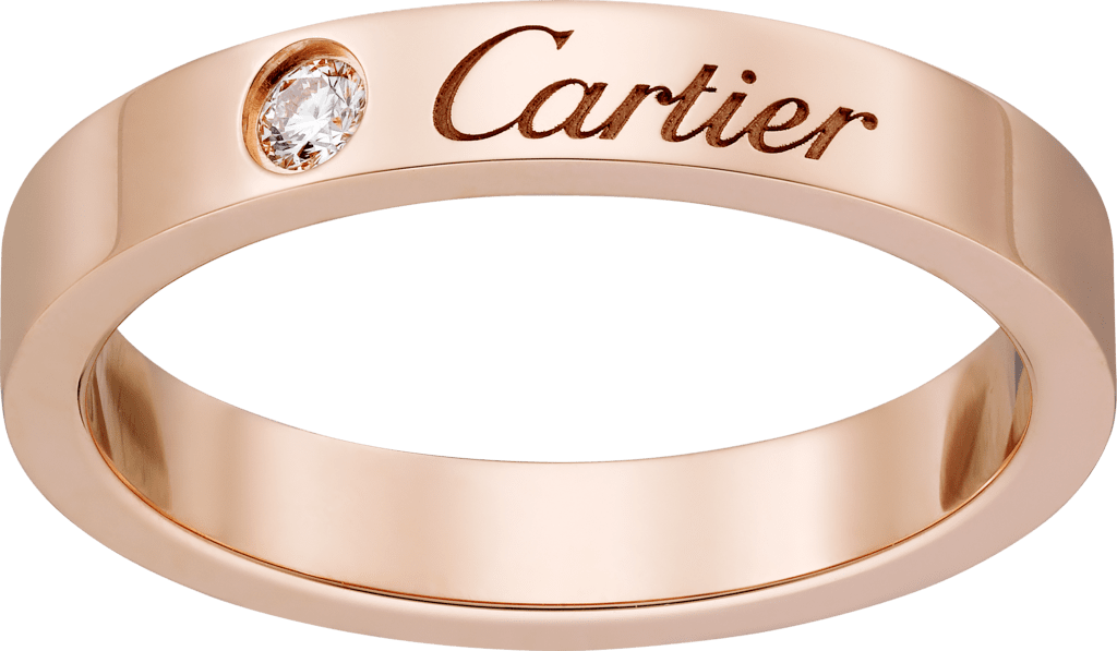 C de Cartier wedding bandPink gold, diamond