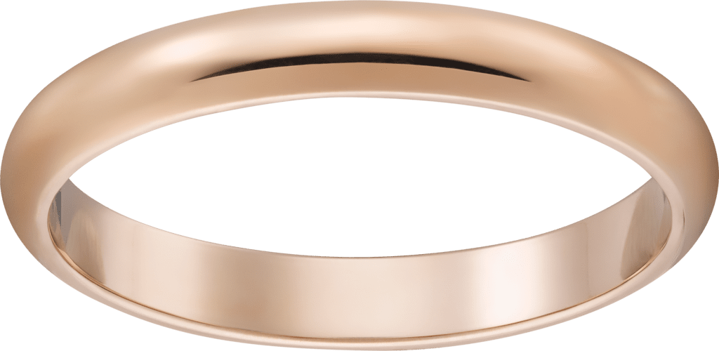 1895 wedding bandPink gold