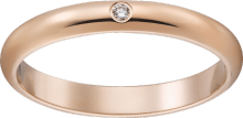 1895 wedding band Pink gold, diamond