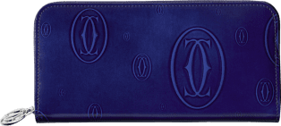Happy Birthday Small Leather Goods Blue calfskin, palladium finish
