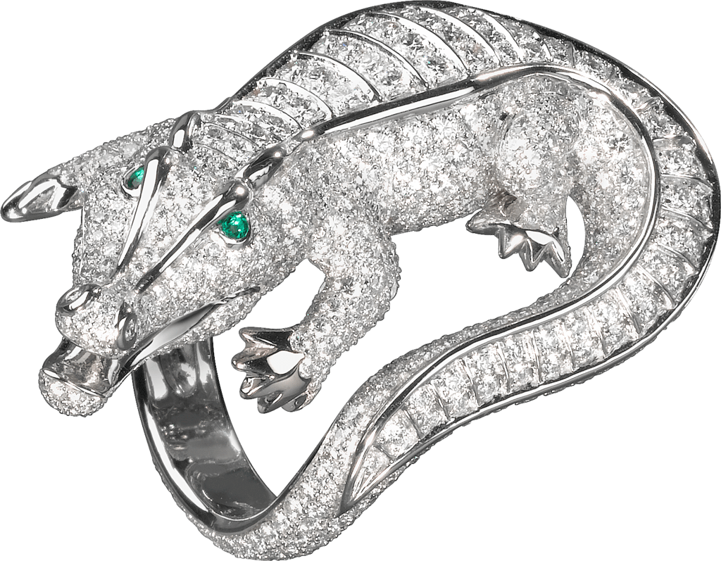 Faune et Flore de Cartier ringPlatinum, emeralds, diamonds