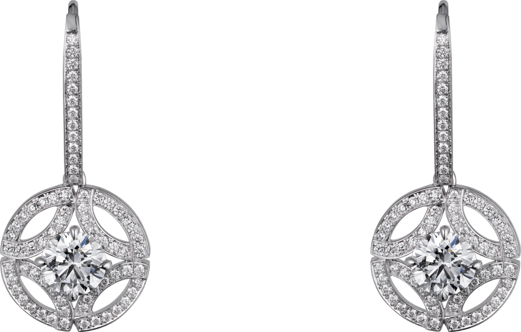 Galanterie de Cartier earringsWhite gold, diamonds