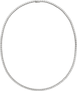 Essential Lines necklace White gold, diamonds