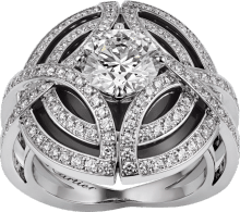 Galanterie de Cartier ring White gold, black lacquer, diamonds