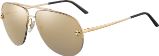 Panthère de Cartier sunglasses Metal, smooth golden finish, golden mirror lenses