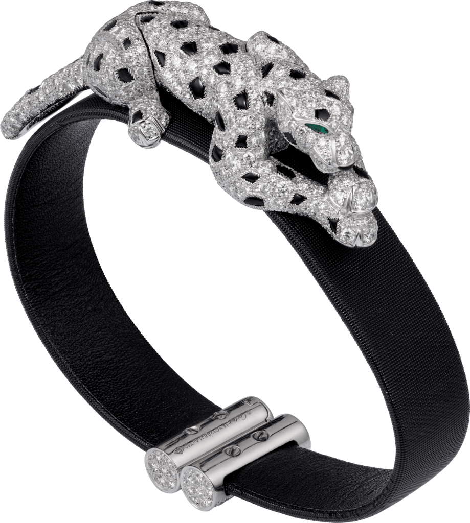 Panthère de Cartier braceletWhite gold, emeralds, onyx, diamonds