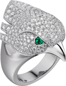 Les Oiseaux Libérés ring White gold, emeralds, diamonds